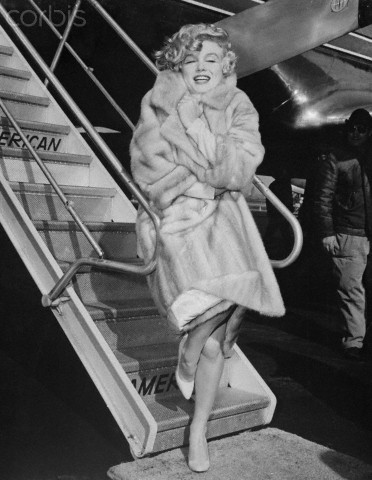 Marilyn Monroe Wearing Fur Coat